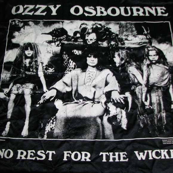 Monowise Other - Vtg Ozzy Osbourne No Rest For The Wicked Tapestry